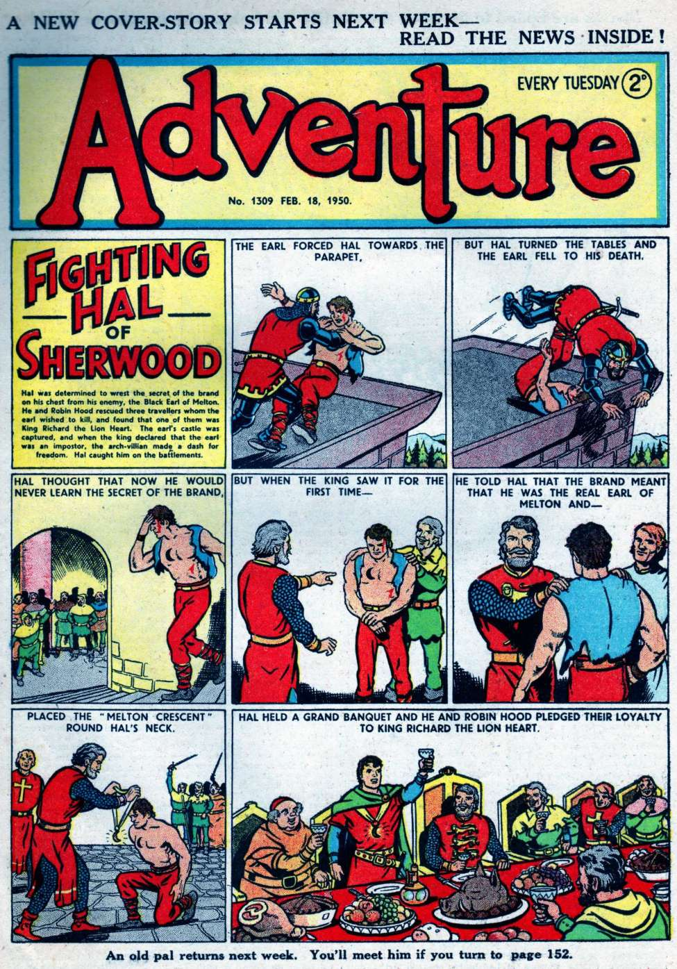 Comic Book Cover For Adventure 1309