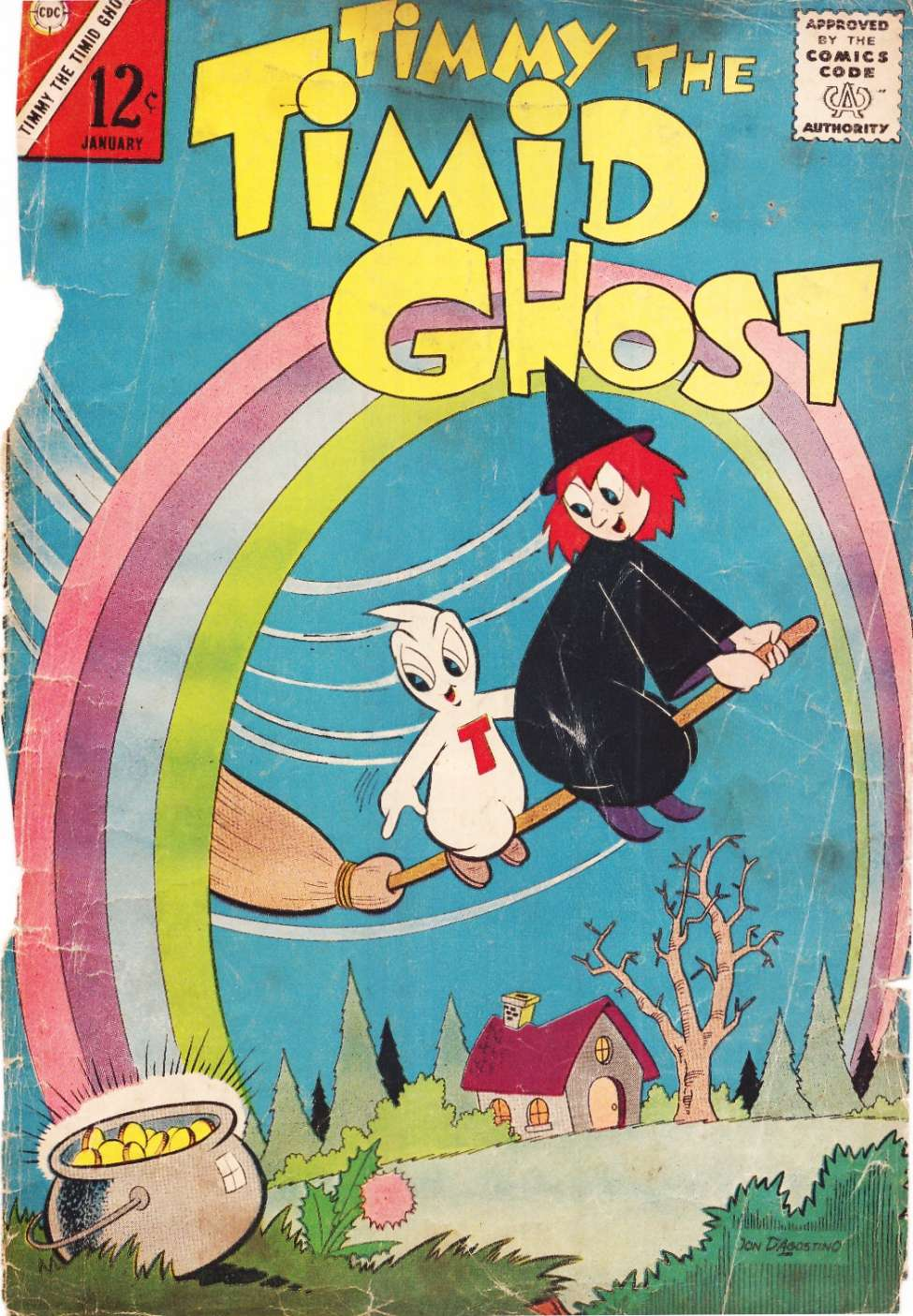 Comic Book Cover For Timmy the Timid Ghost #42