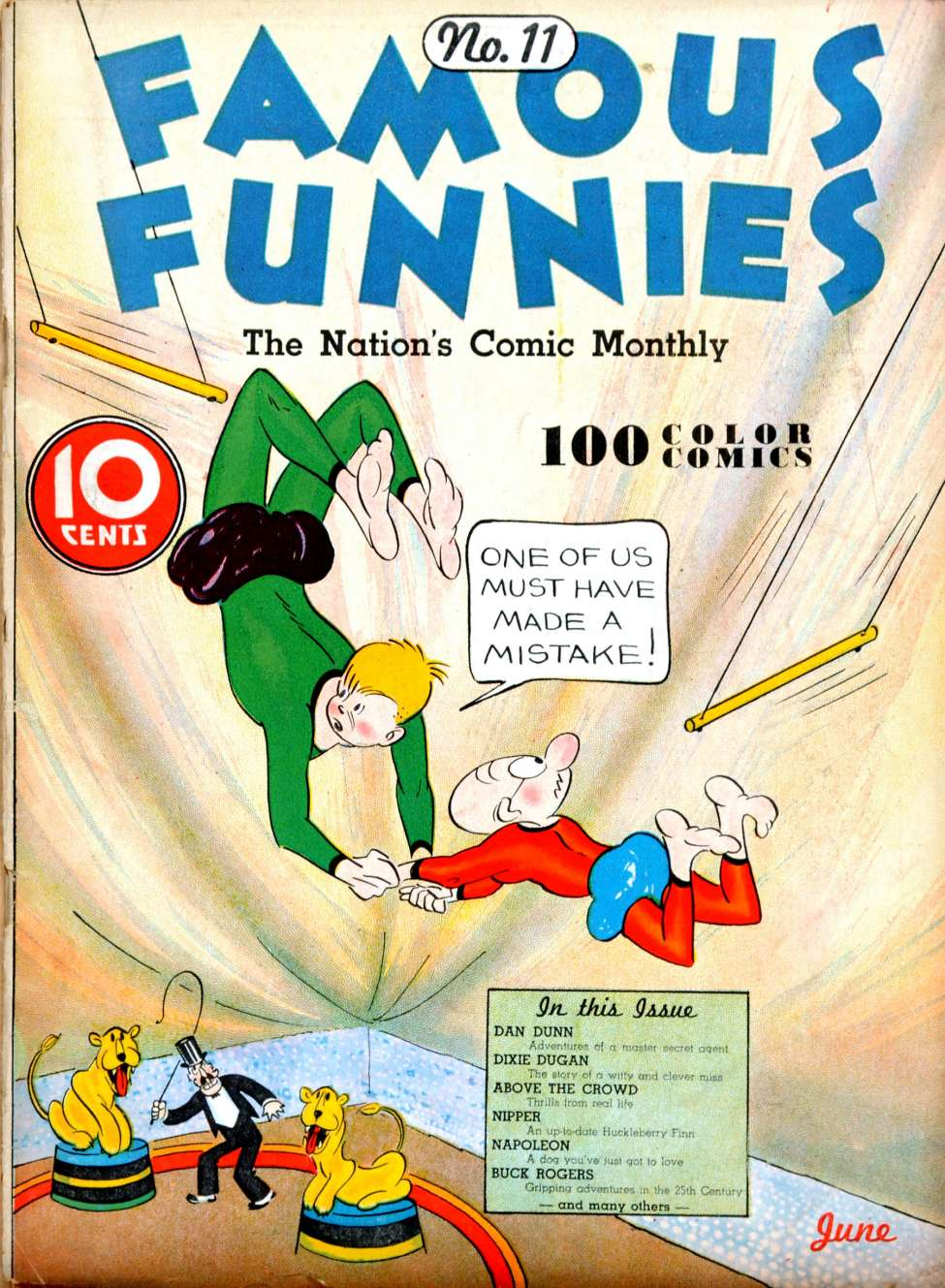 Comic Book Cover For Famous Funnies #11