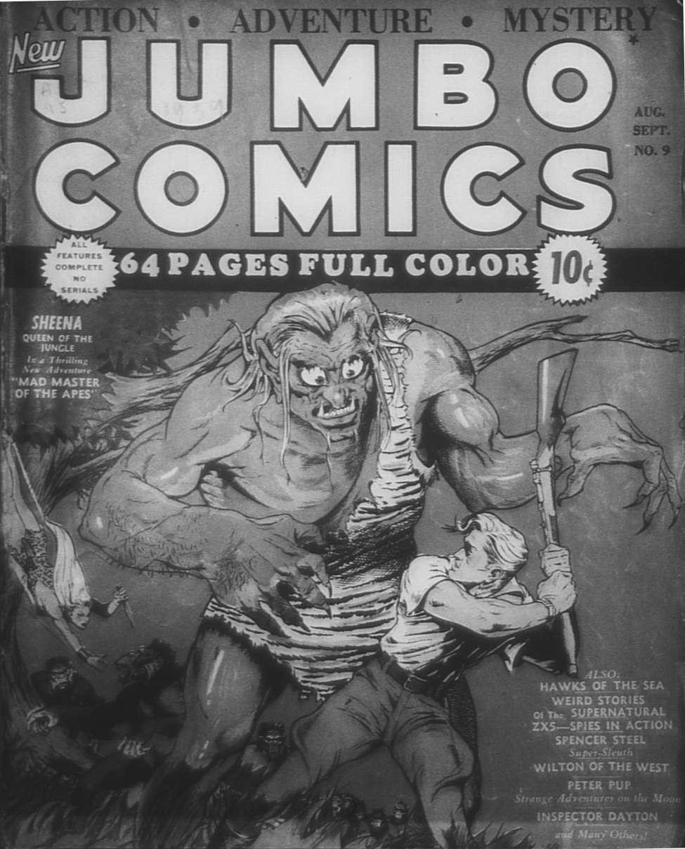 Comic Book Cover For Jumbo Comics #9