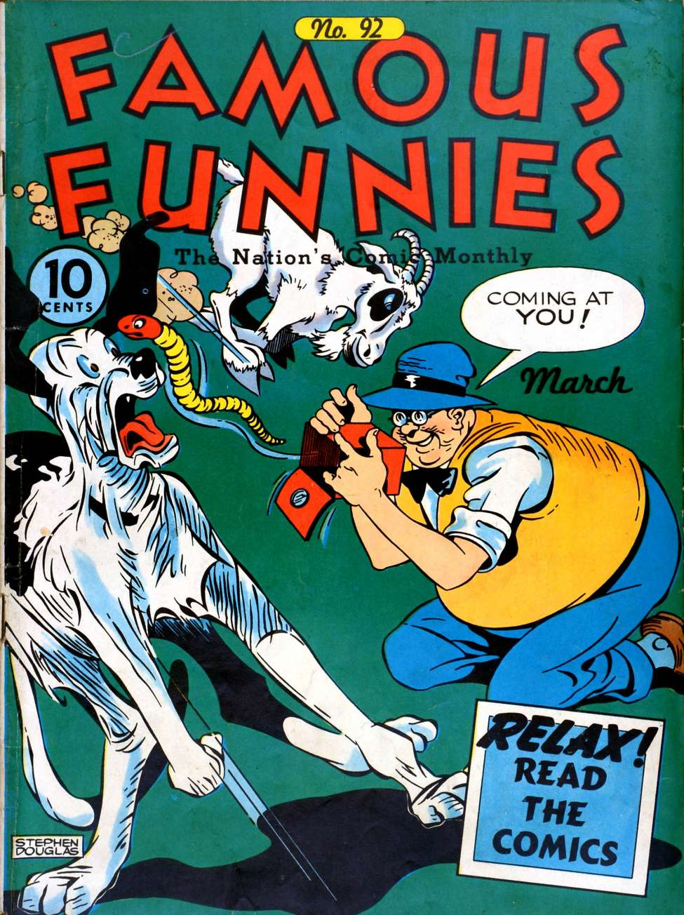 Comic Book Cover For Famous Funnies #92