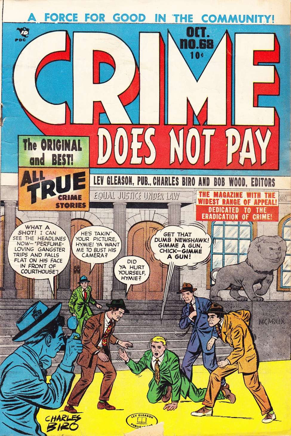 Comic Book Cover For Crime Does Not Pay #68