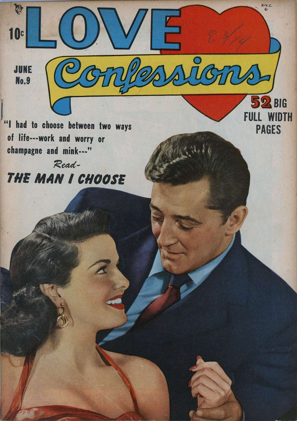 Comic Book Cover For Love Confessions #9