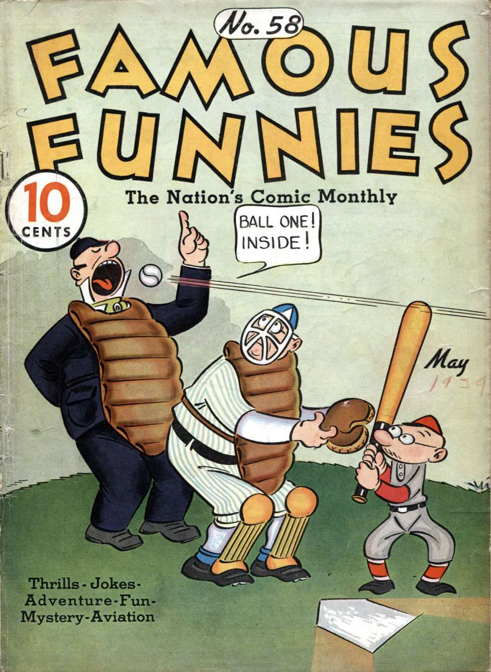 Comic Book Cover For Famous Funnies #58