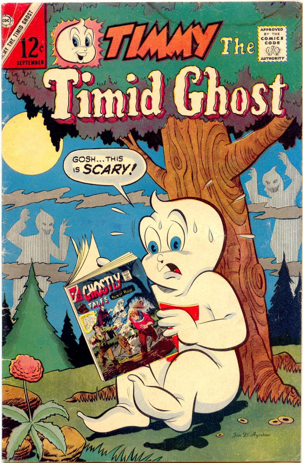 Comic Book Cover For Timmy the Timid Ghost #45