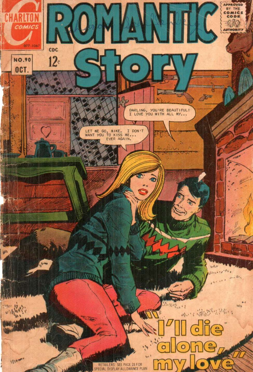 Comic Book Cover For Romantic Story #90
