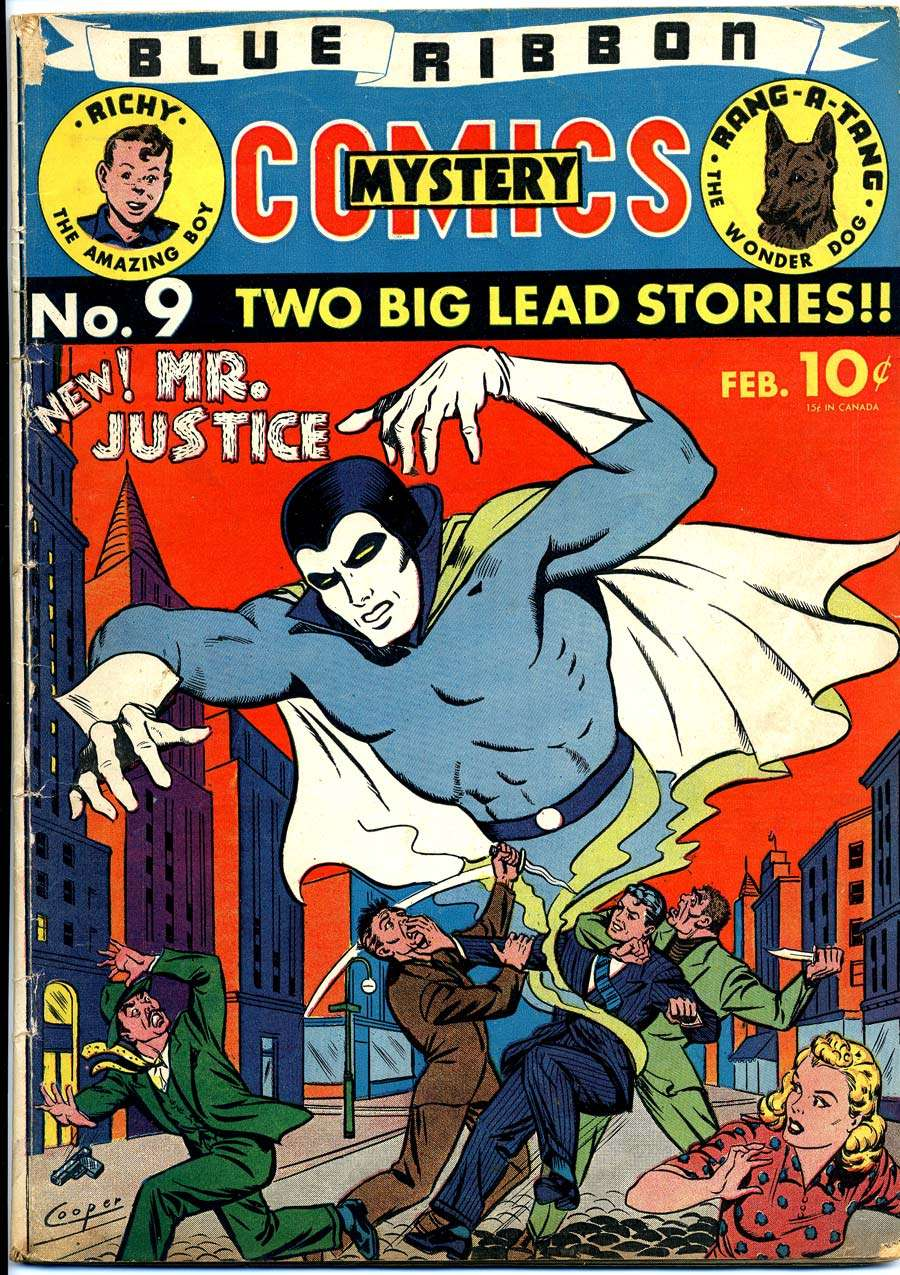 Comic Book Cover For Blue Ribbon Comics #9