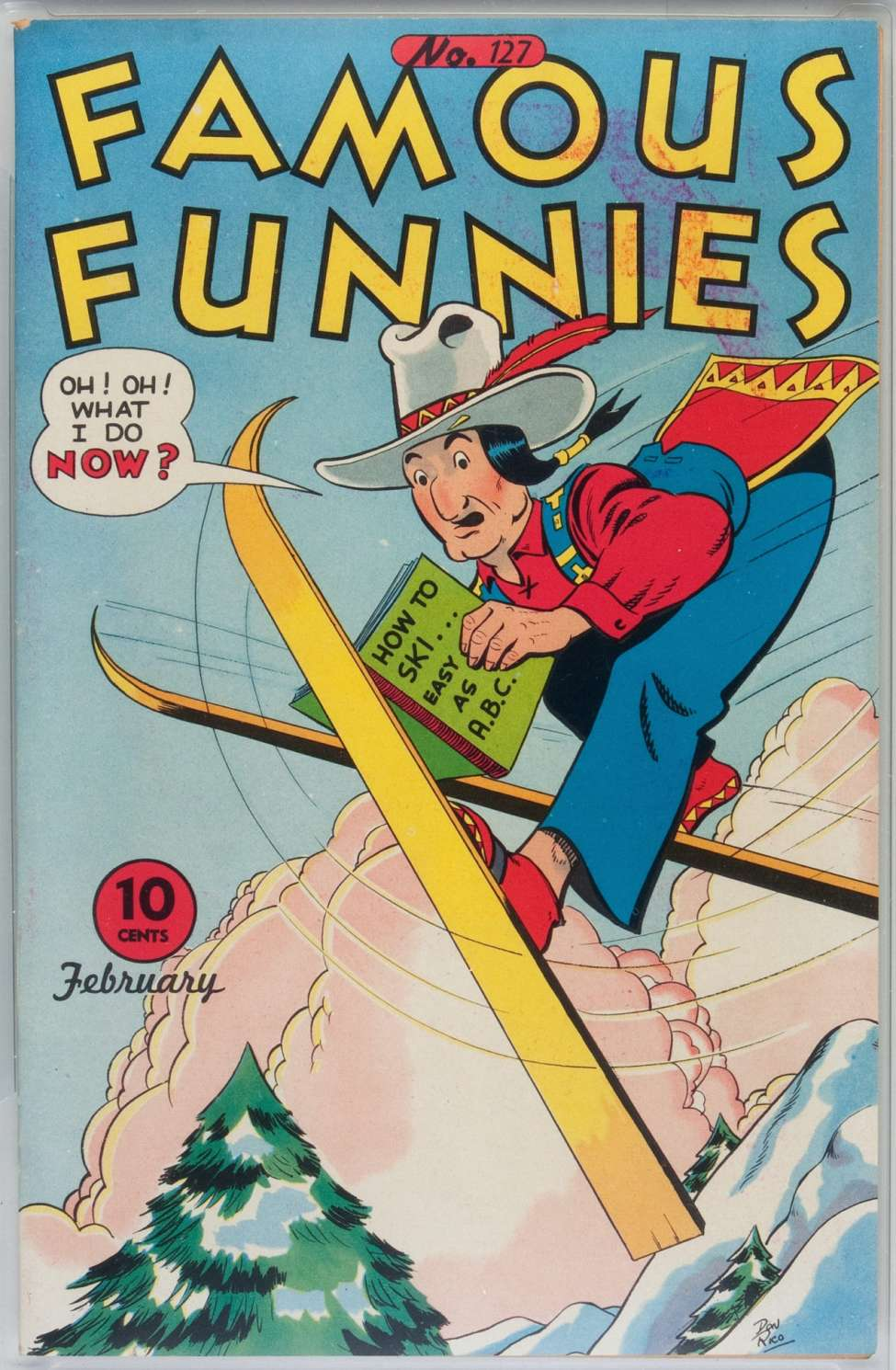Comic Book Cover For Famous Funnies #127