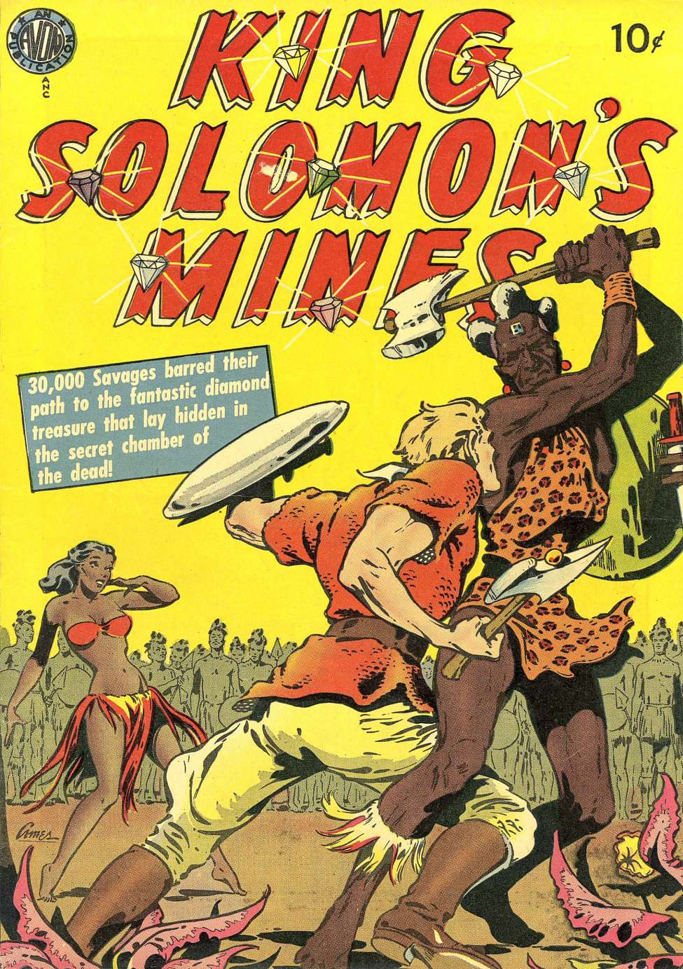 Comic Book Cover For King Solomon's Mines (nn)