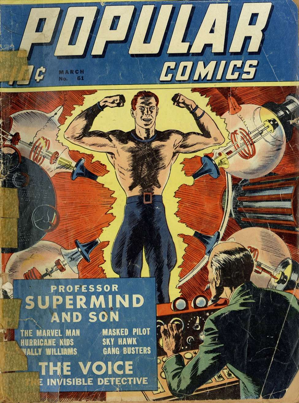 Comic Book Cover For Popular Comics #61
