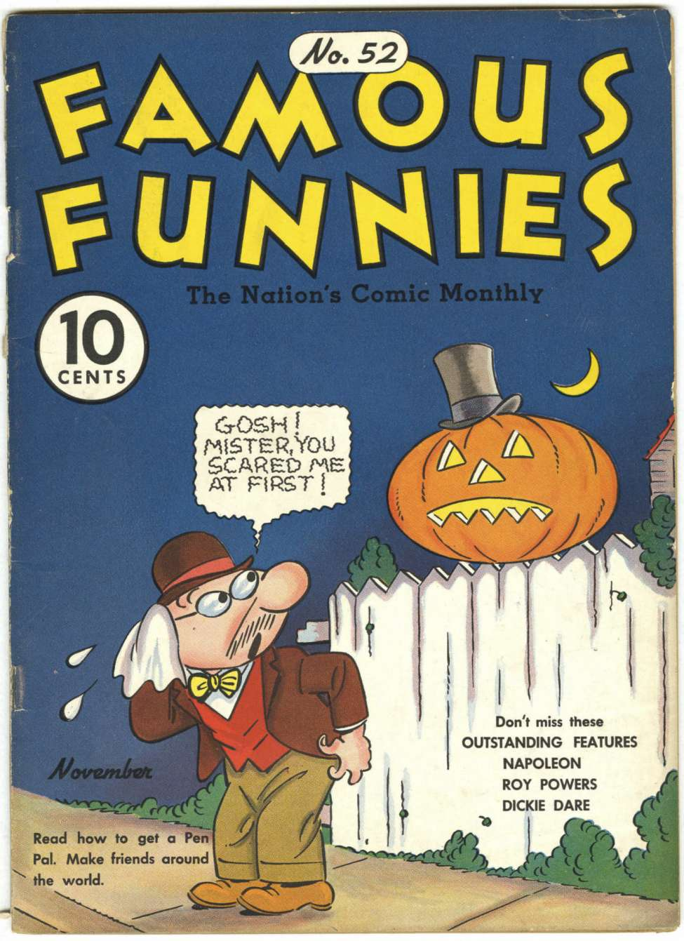 Comic Book Cover For Famous Funnies #52 - Version 2