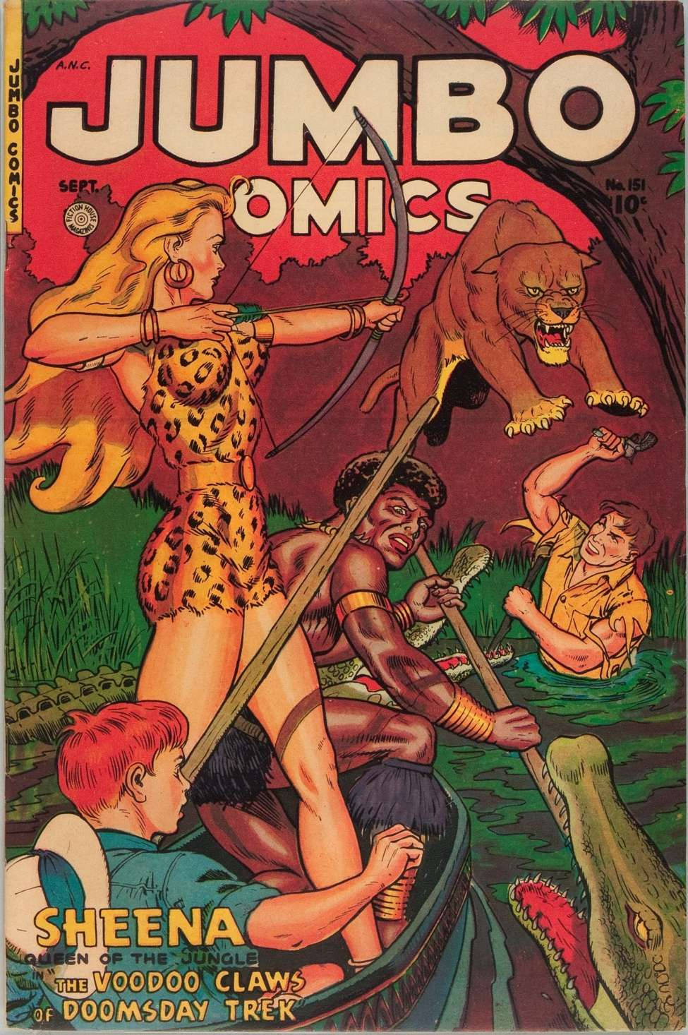 Comic Book Cover For Jumbo Comics #151