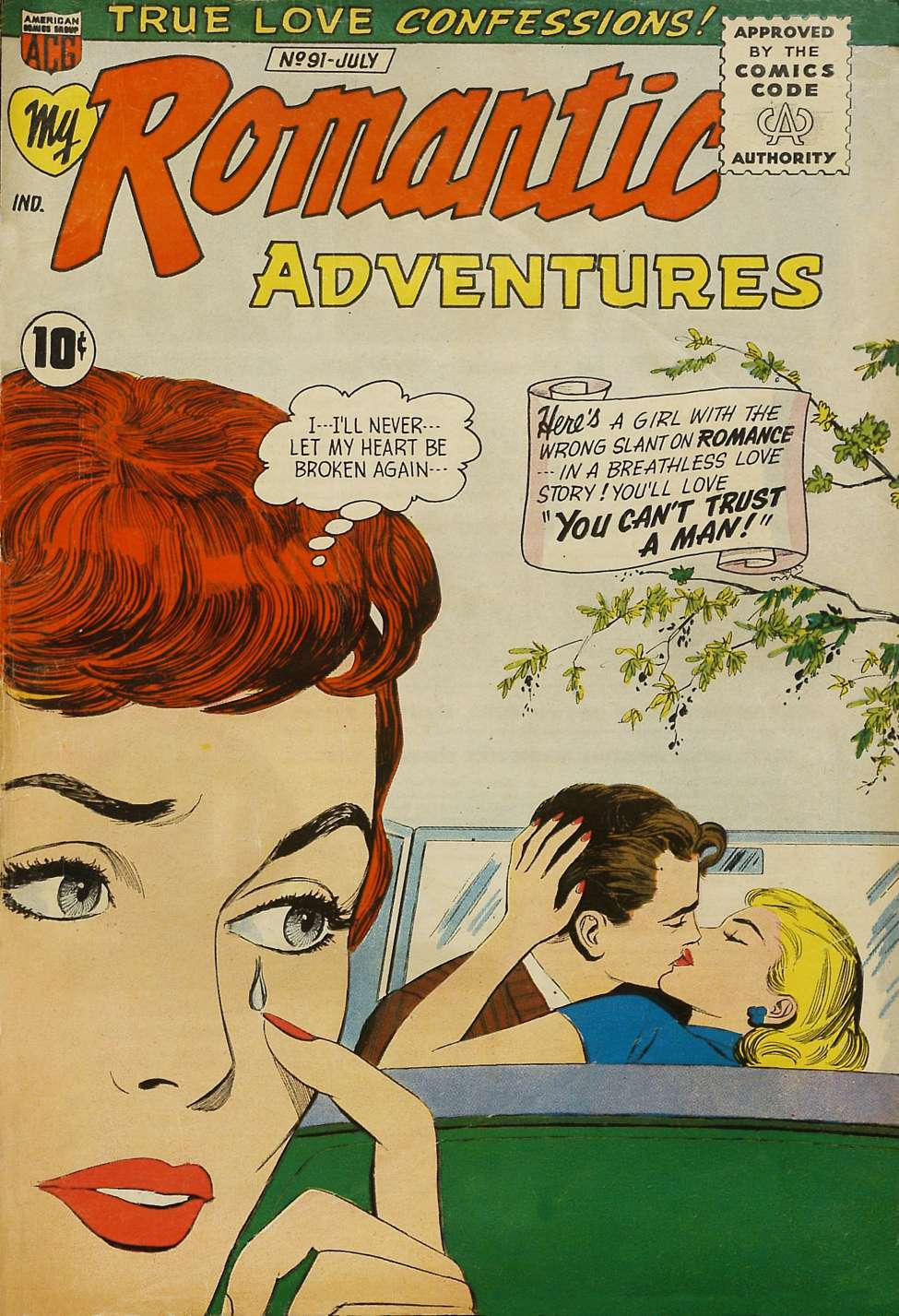 Comic Book Cover For My Romantic Adventures #91 - Version 1