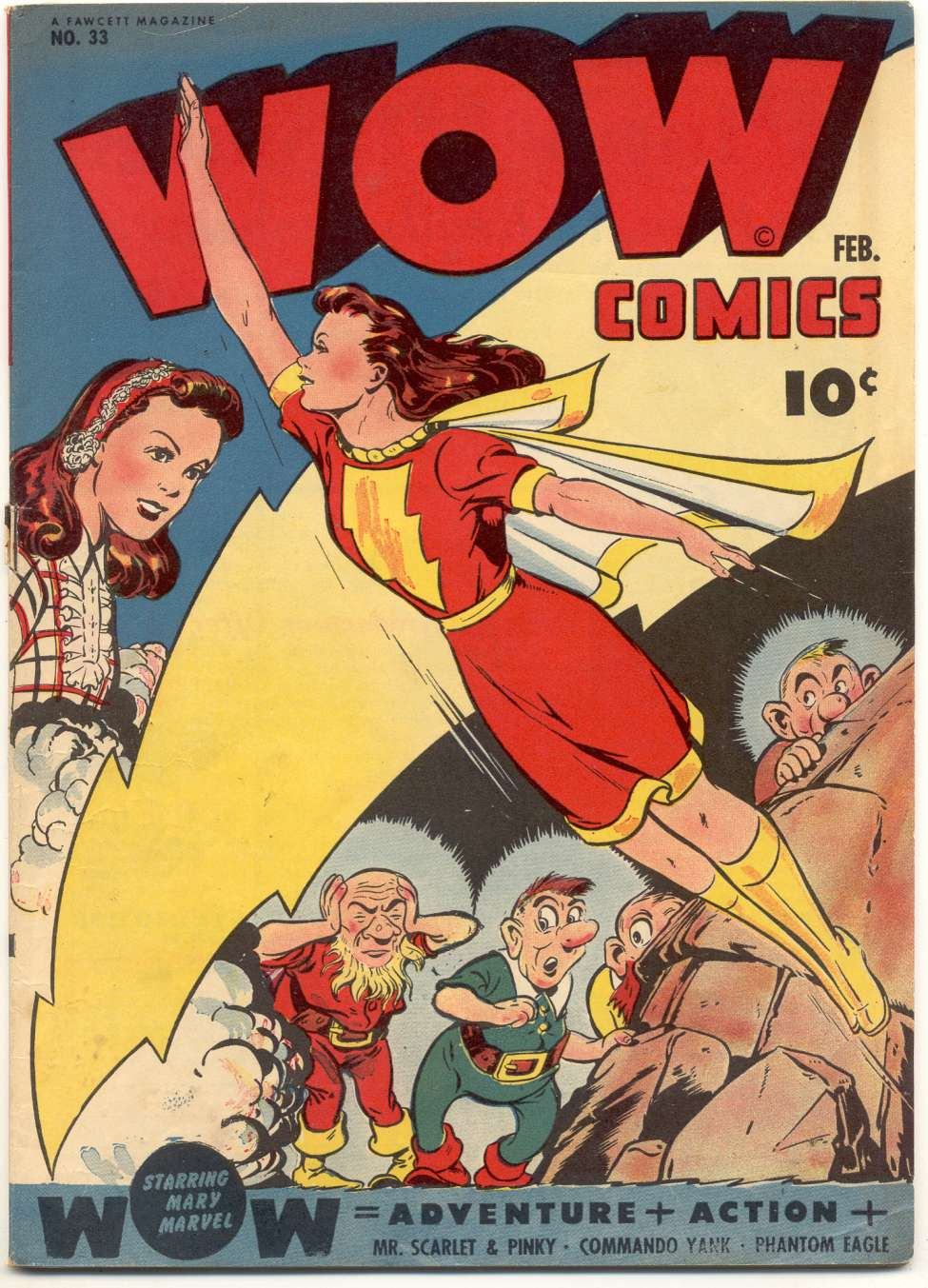 Comic Book Cover For Wow Comics #33