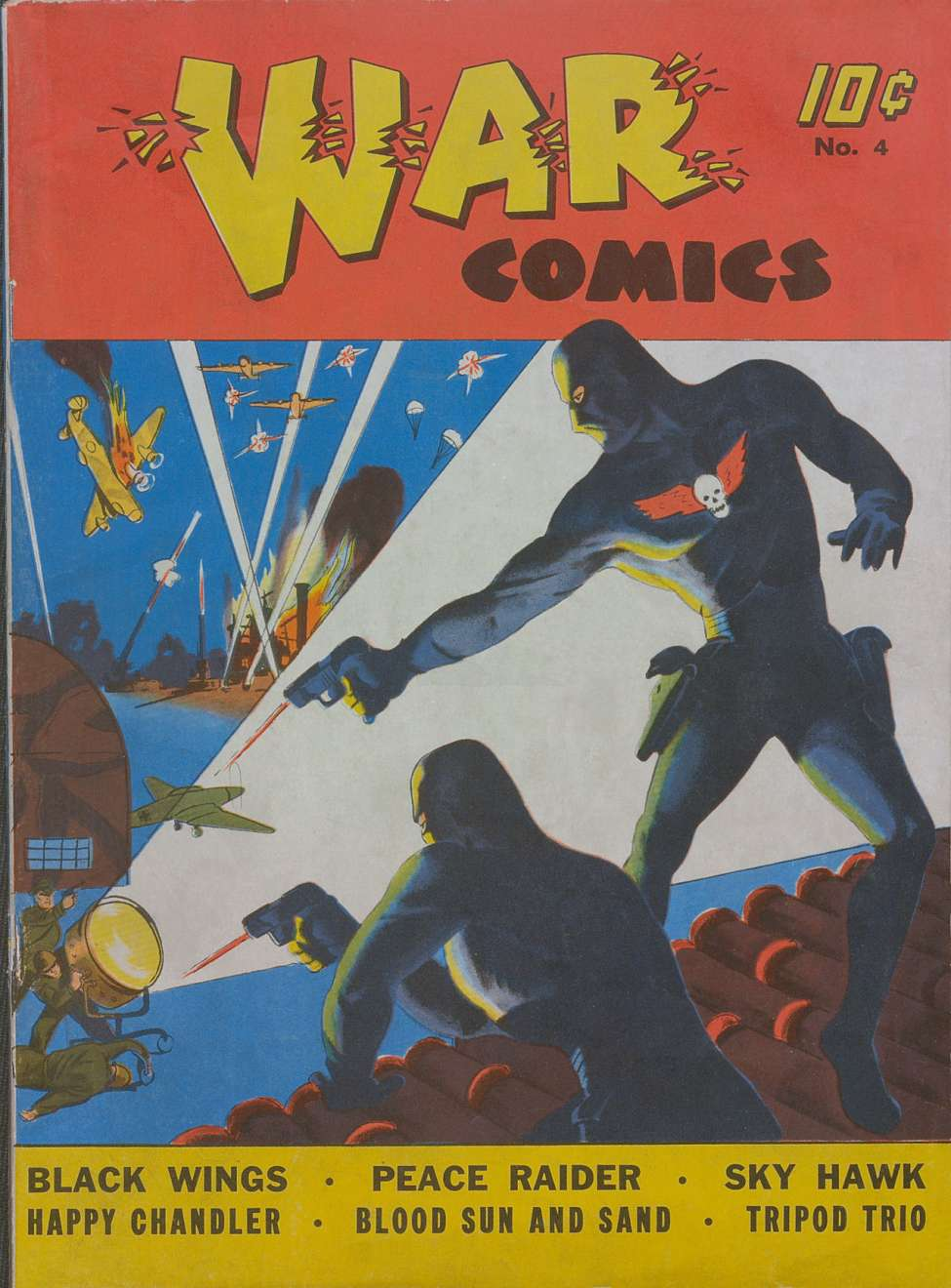 Comic Book Cover For War Comics #4 - Version 2