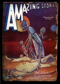 Large Thumbnail For Amazing Stories v11 01 - The Planet of Perpetual Night - John Edwards