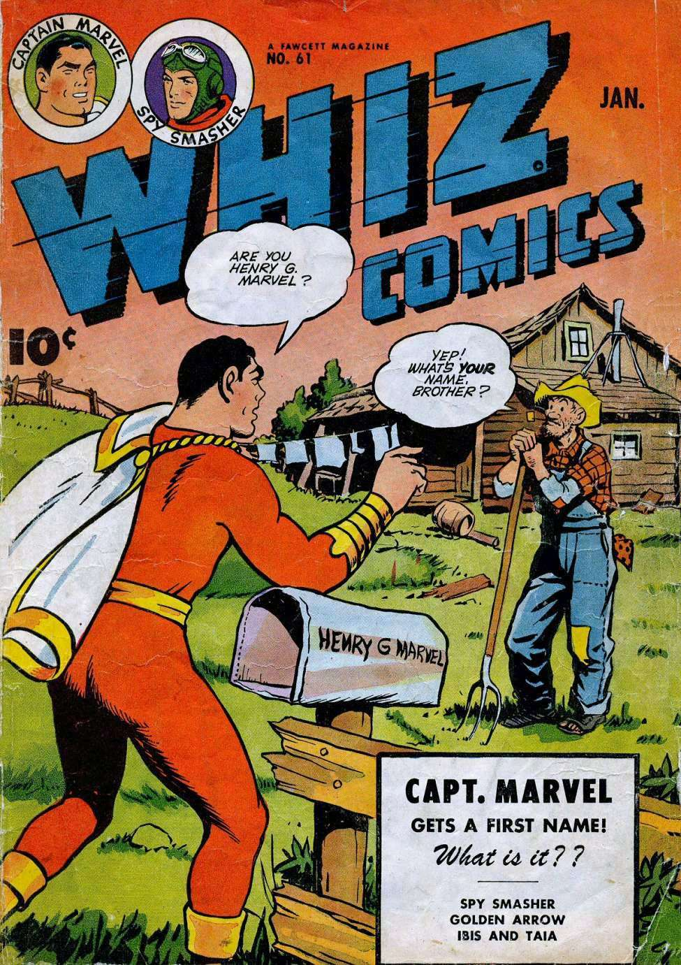 Comic Book Cover For Capt. Marvel Whiz Archives Vol 14