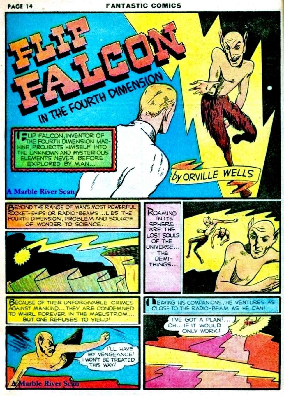 Comic Book Cover For Flip Falcon in the 4th Dimension Part 2