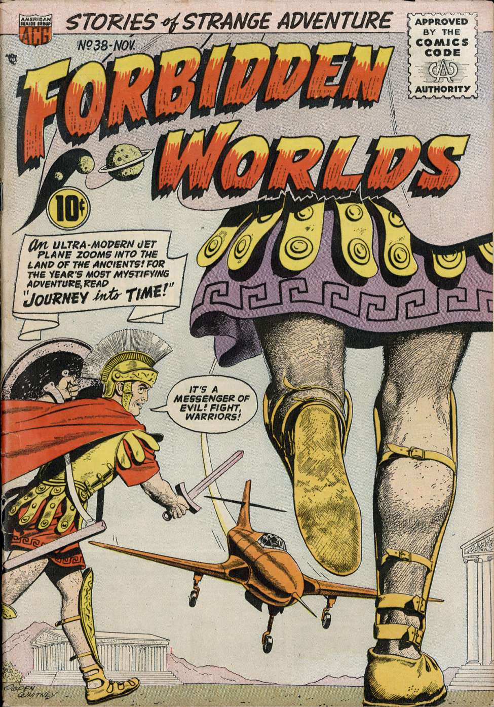 Comic Book Cover For Forbidden Worlds #38