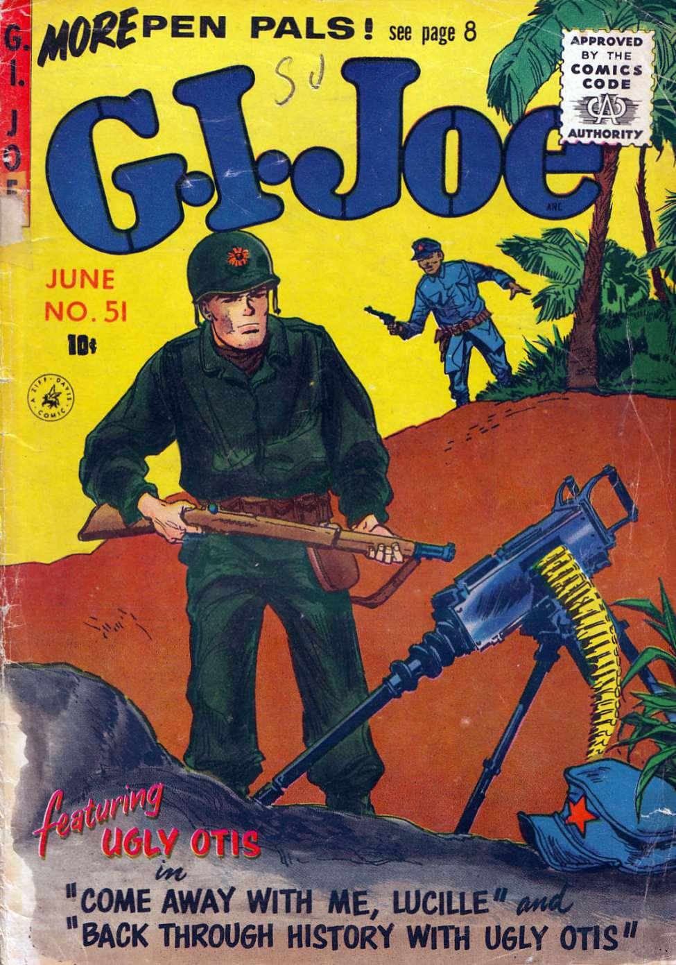 Comic Book Cover For G.I. Joe #51