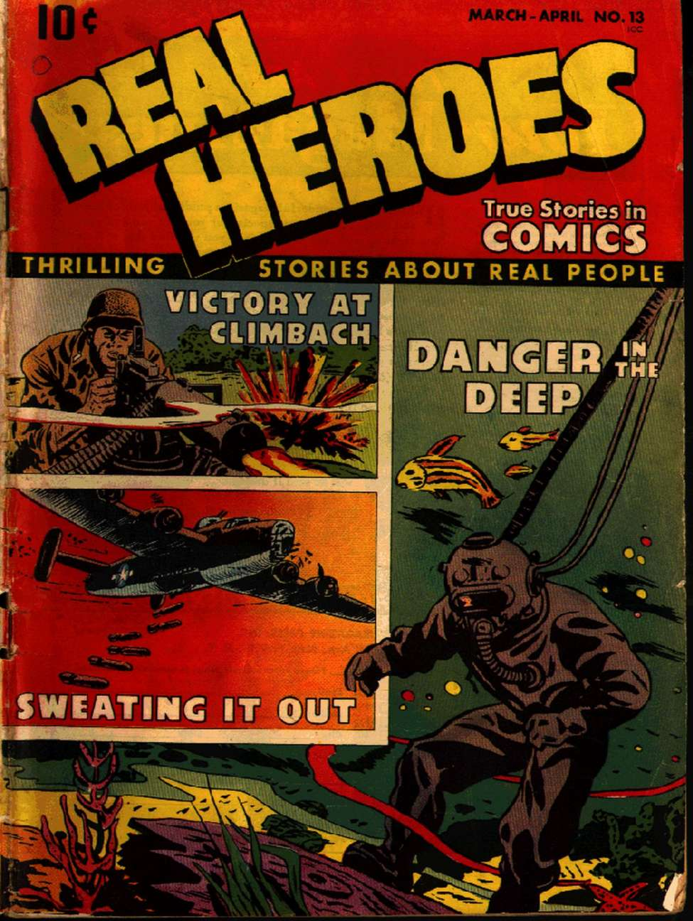 Comic Book Cover For Real Heroes #13