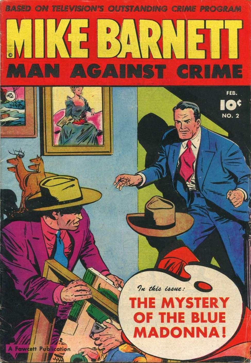 Comic Book Cover For Mike Barnett, Man Against Crime #2