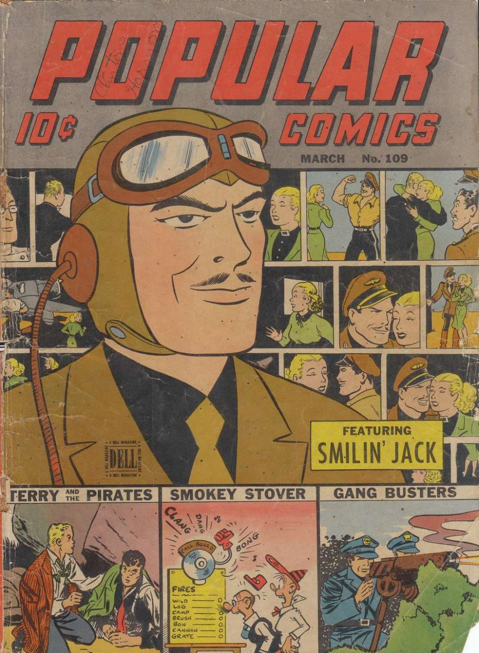 Comic Book Cover For Popular Comics #109