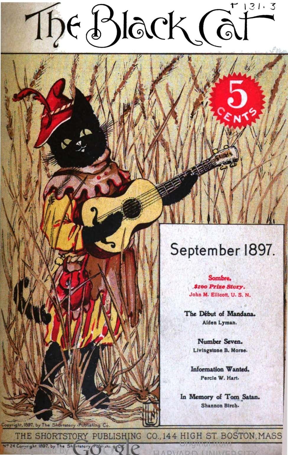 Comic Book Cover For The Black Cat 024 - Sombre - John M. Ellicott U.S.N.