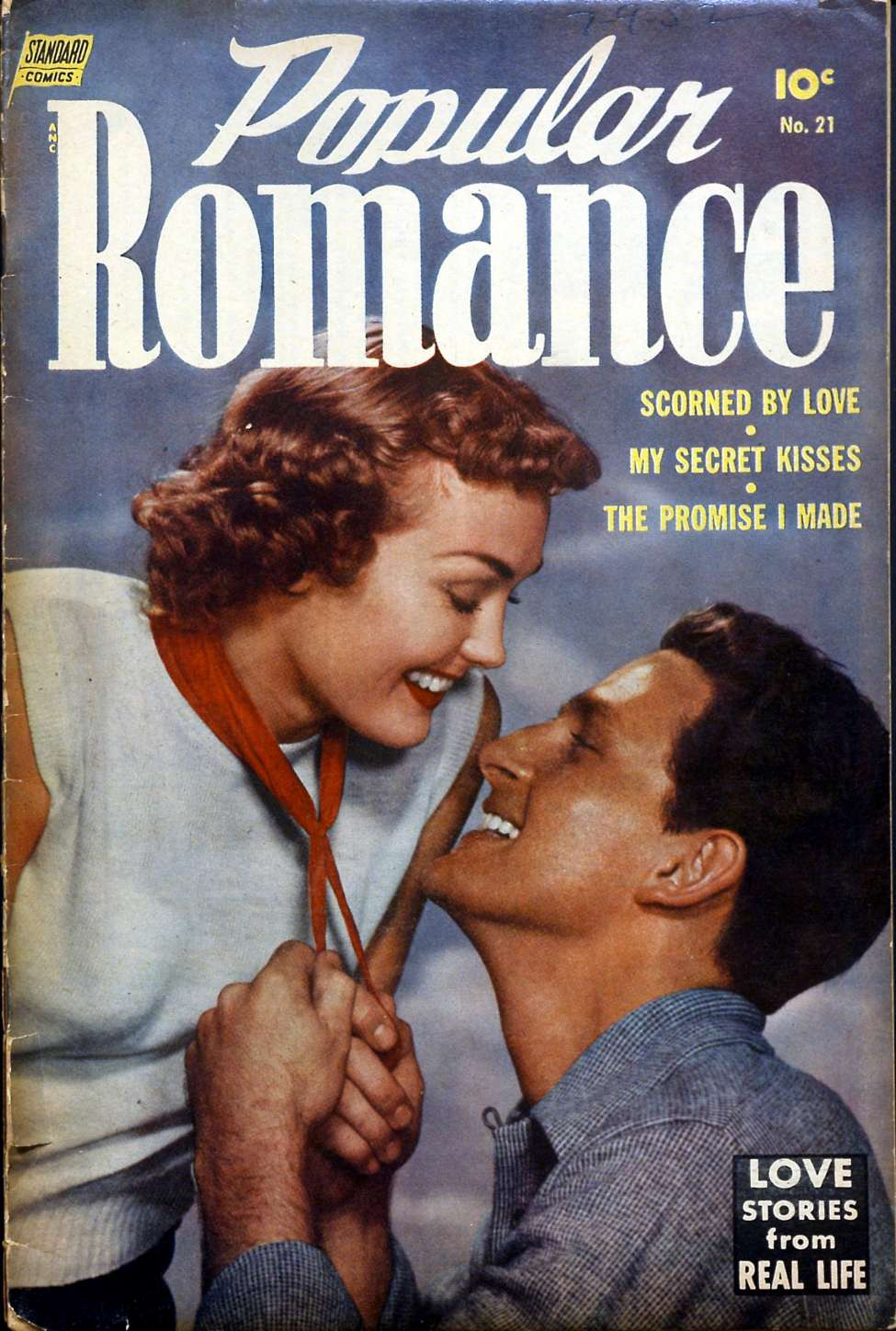 Comic Book Cover For Popular Romance #21