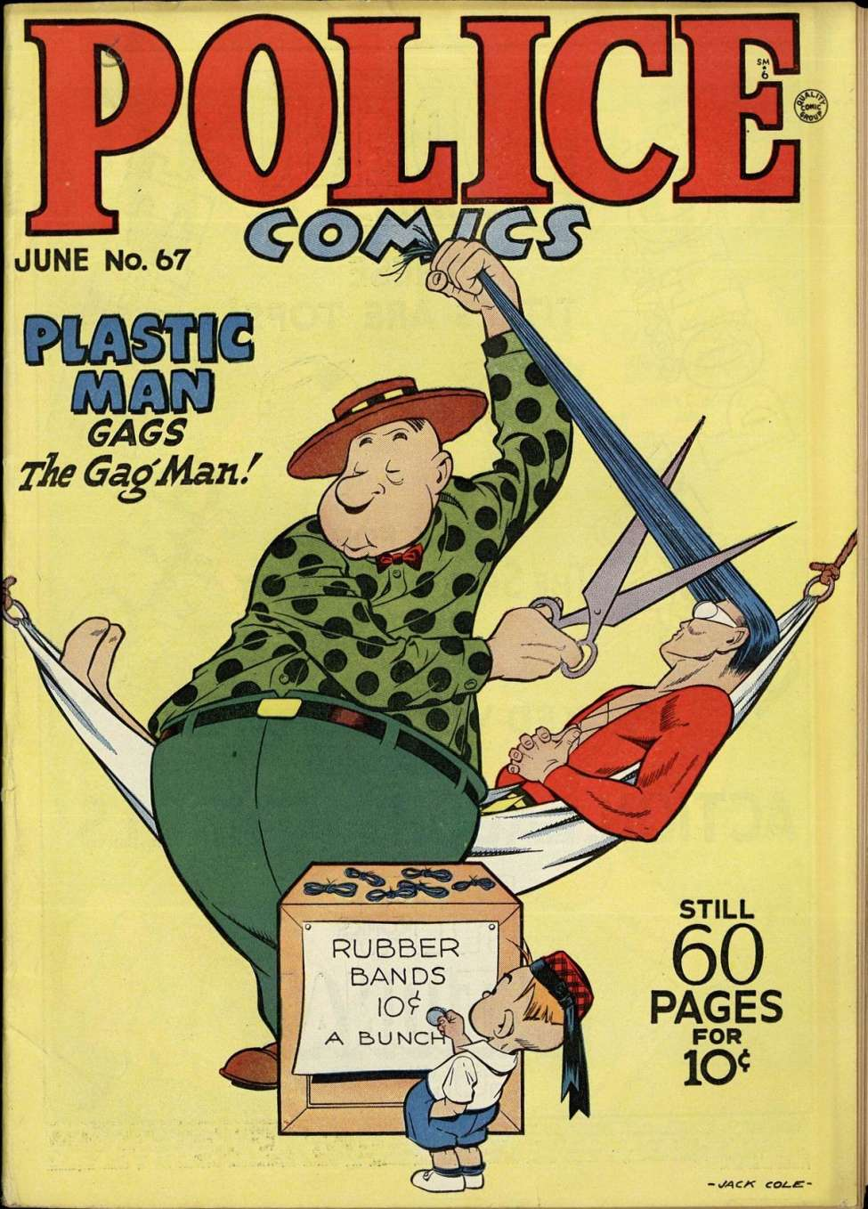 Comic Book Cover For Police Comics #67