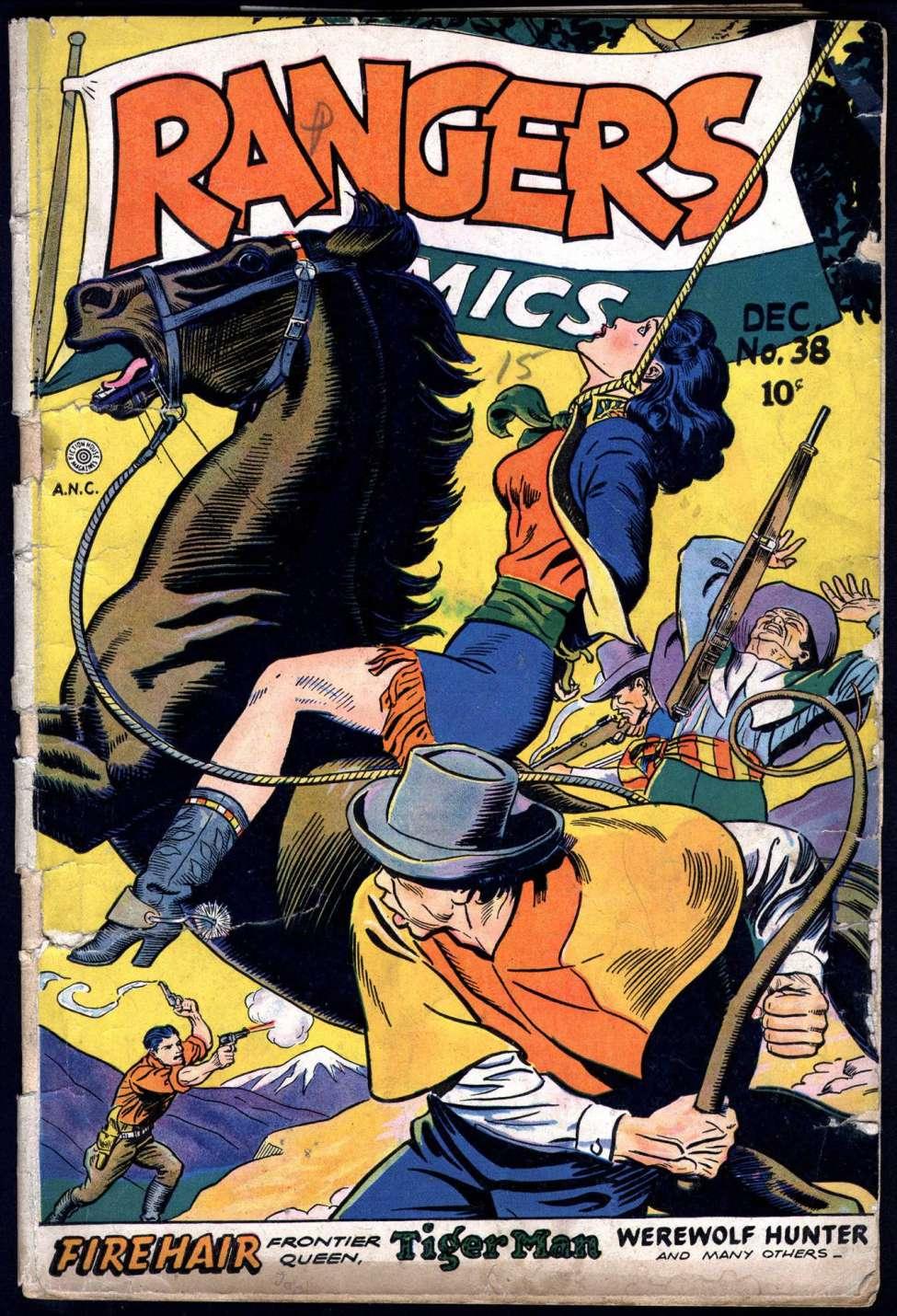 Comic Book Cover For Rangers Comics #38
