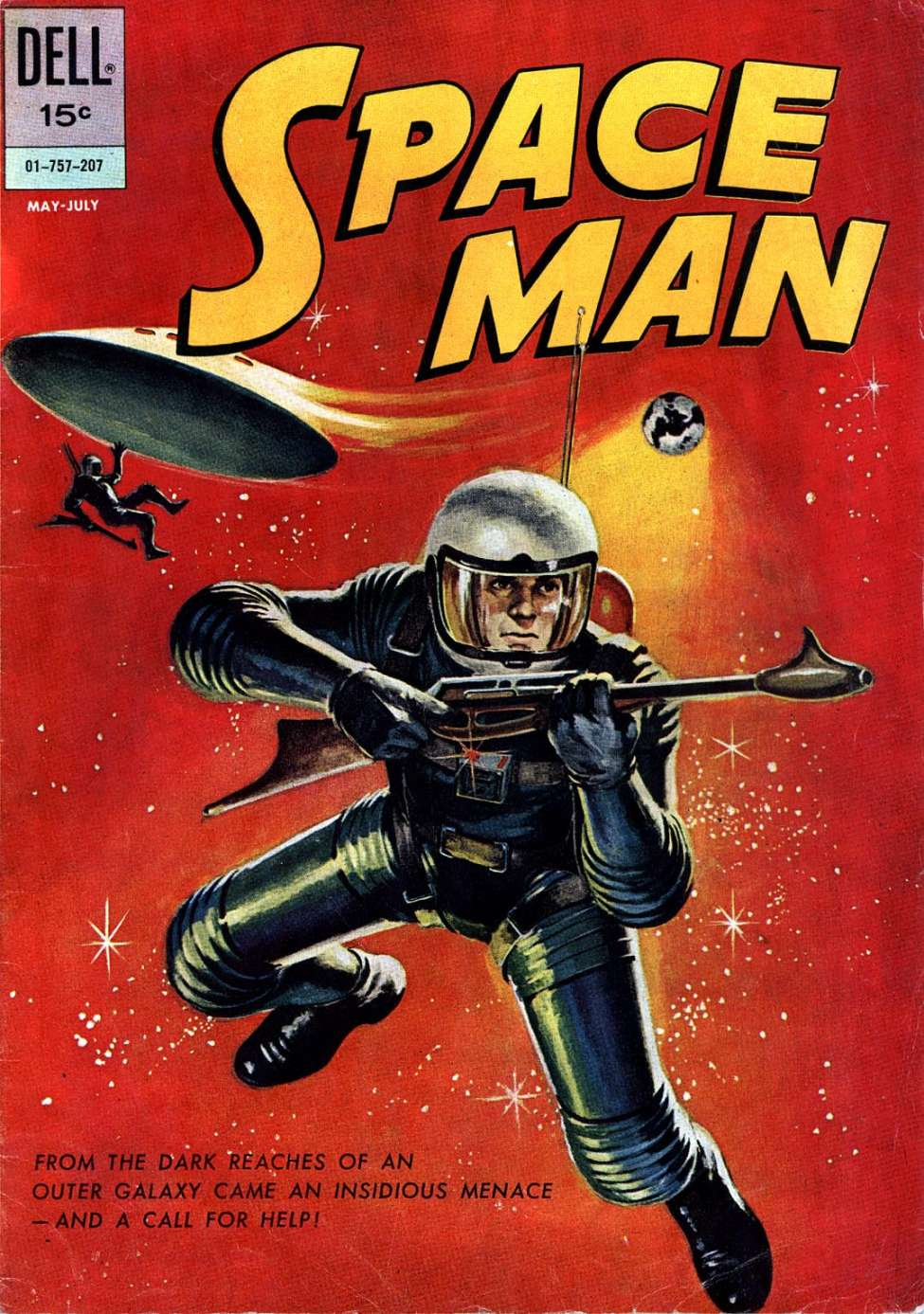 Comic Book Cover For Space Man #2