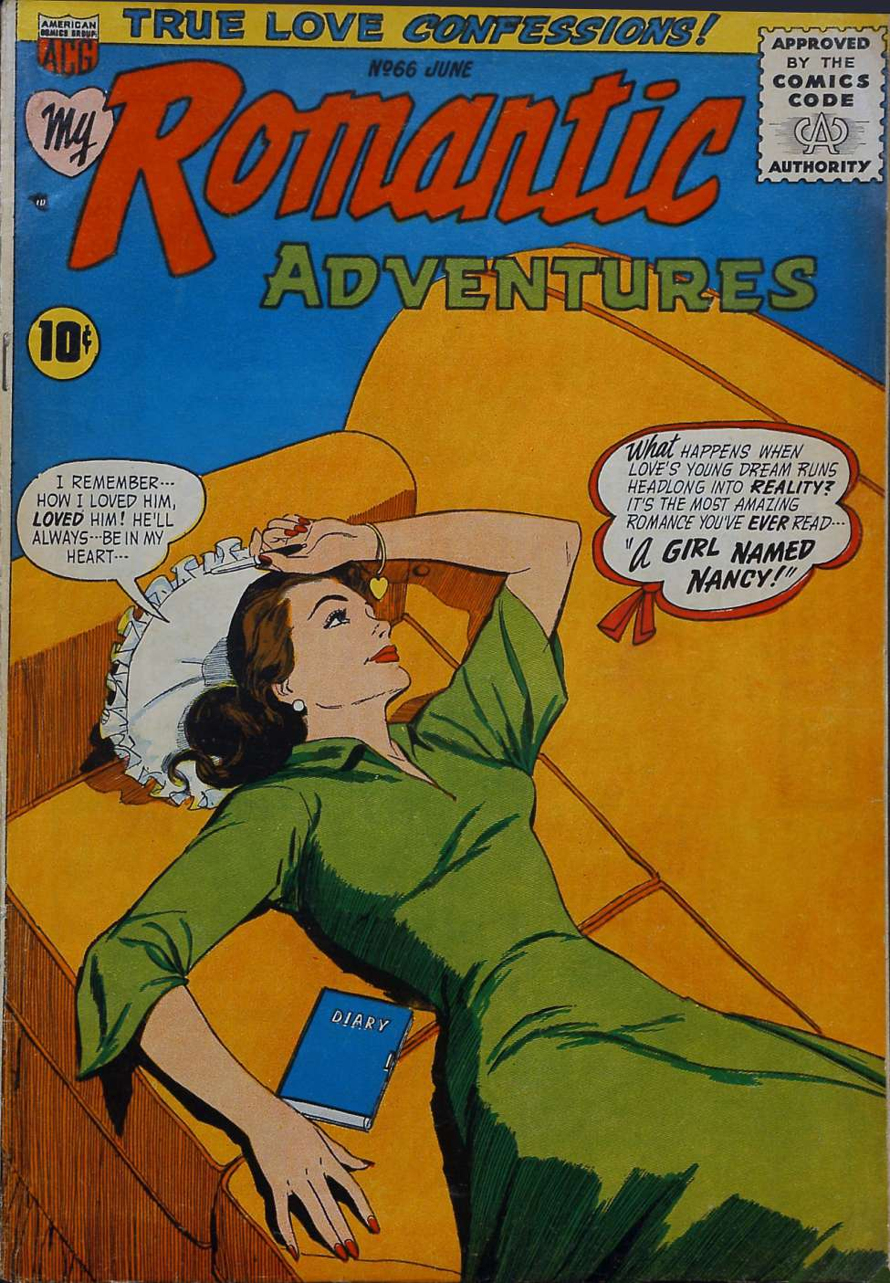 Comic Book Cover For Romantic Adventures #66