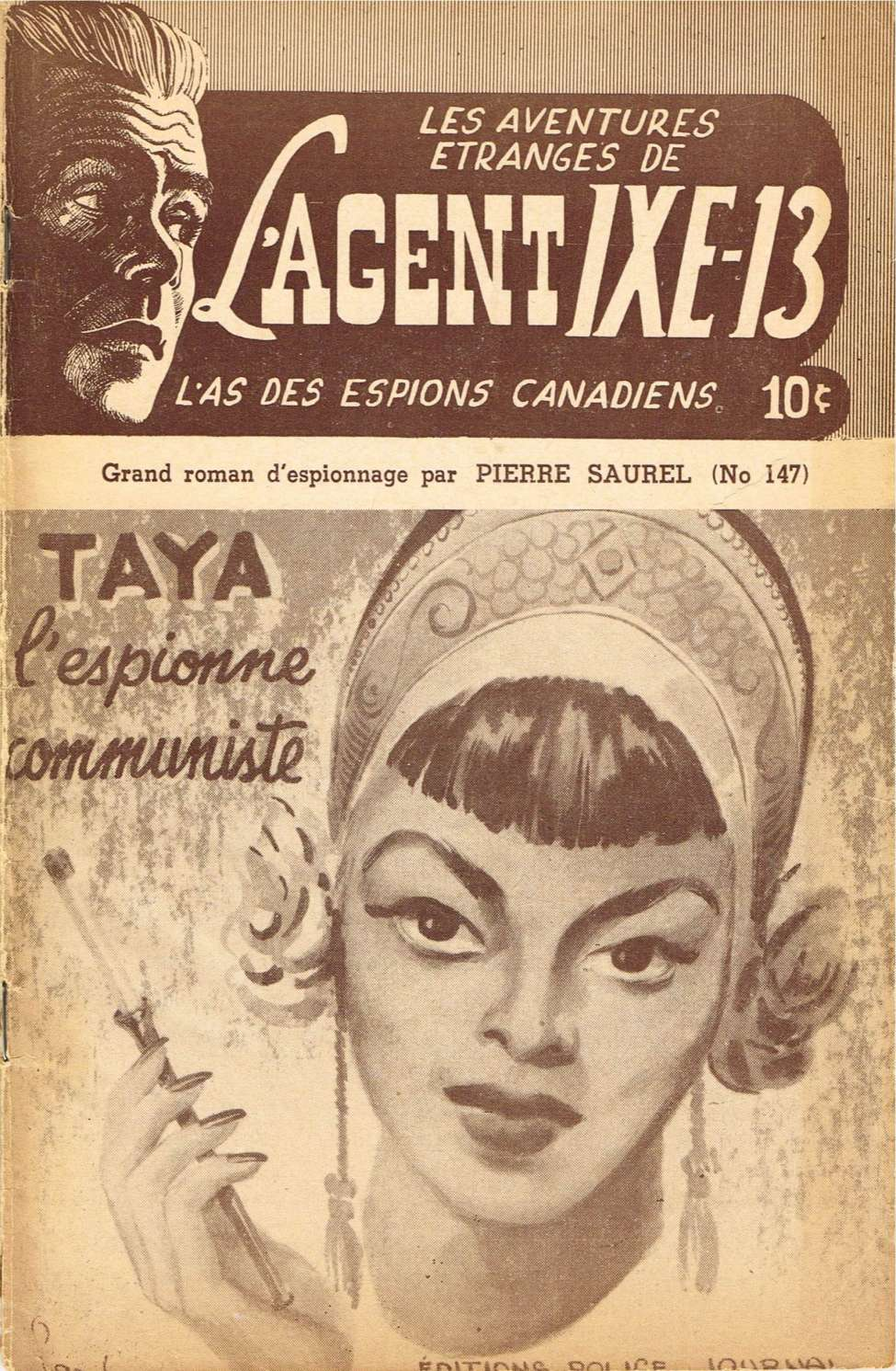 Comic Book Cover For L'Agent IXE-13 v2 147 - Taya l'espionne communiste