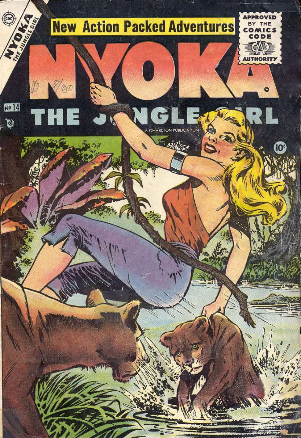 Comic Book Cover For Nyoka the Jungle Girl #14
