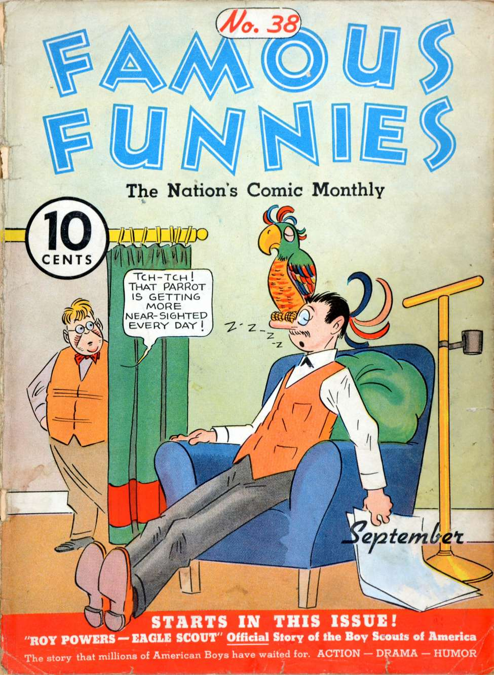 Comic Book Cover For Famous Funnies #38
