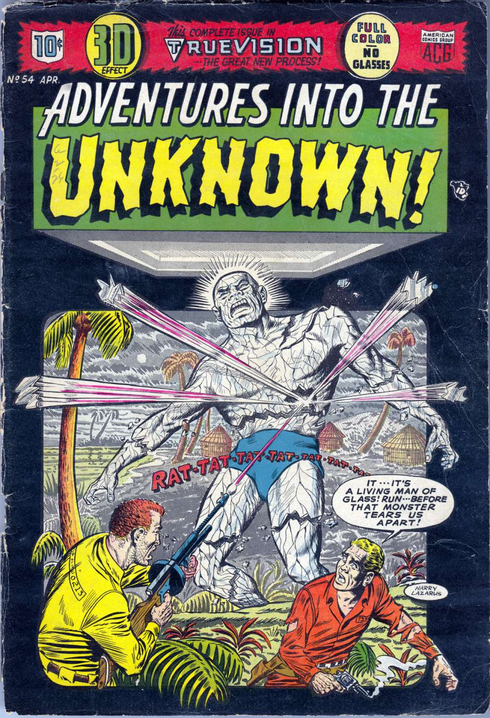 Comic Book Cover For Adventures into the Unknown #54
