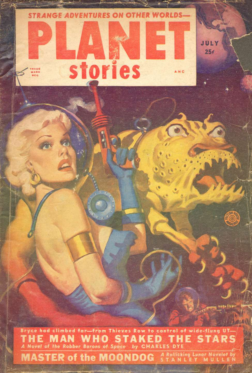 Comic Book Cover For Planet Stories v05 07 - The Man Who Staked the Stars - Charles Dye