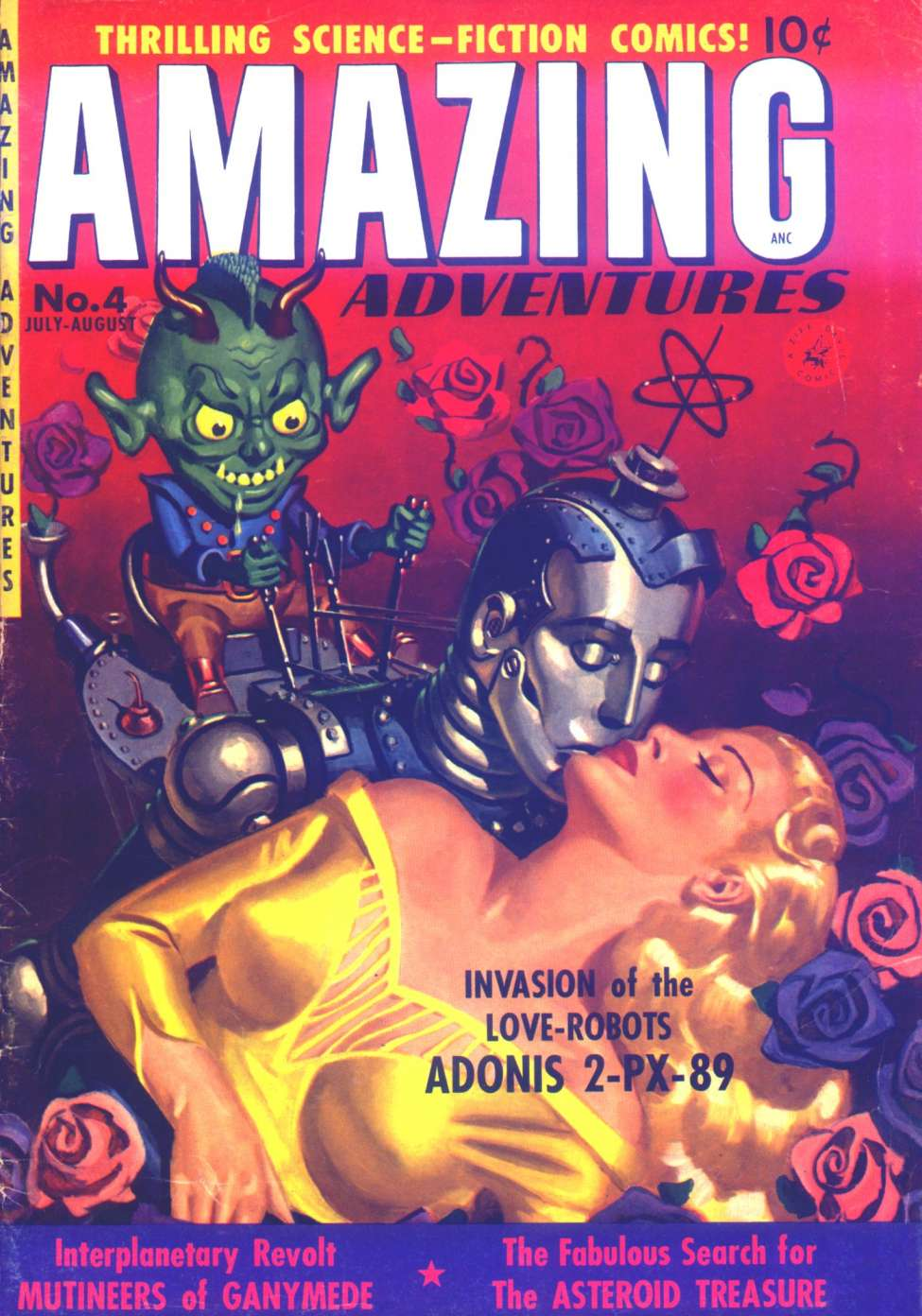Comic Book Cover For Amazing Adventures #4