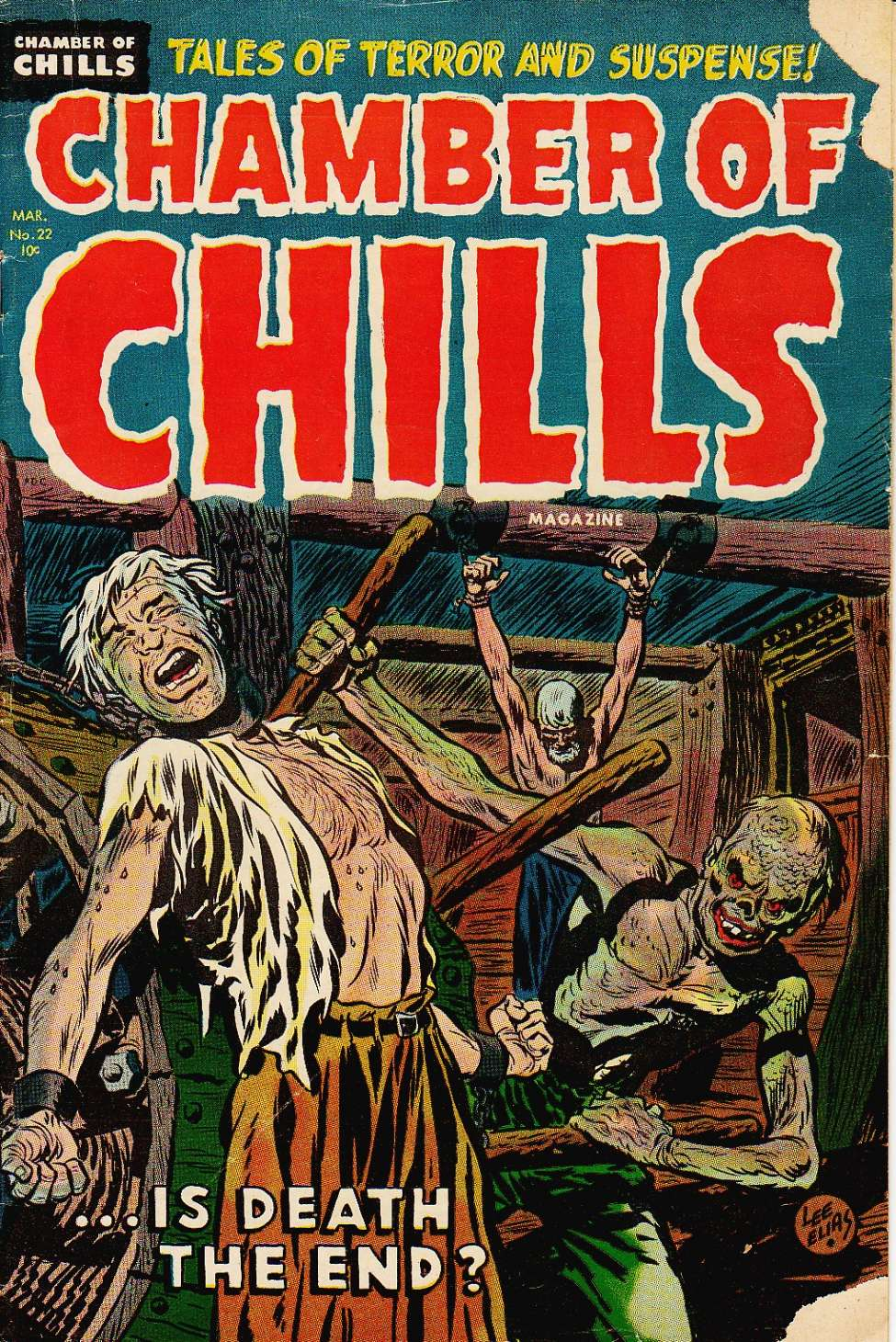 Comic Book Cover For Chamber of Chills Magazine #22