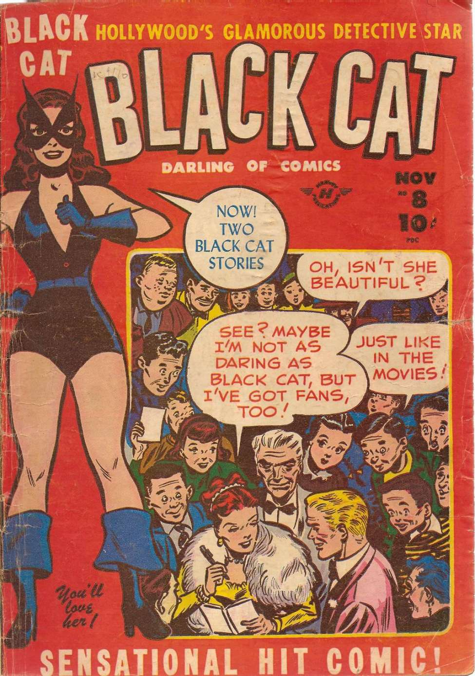 Comic Book Cover For Black Cat #8