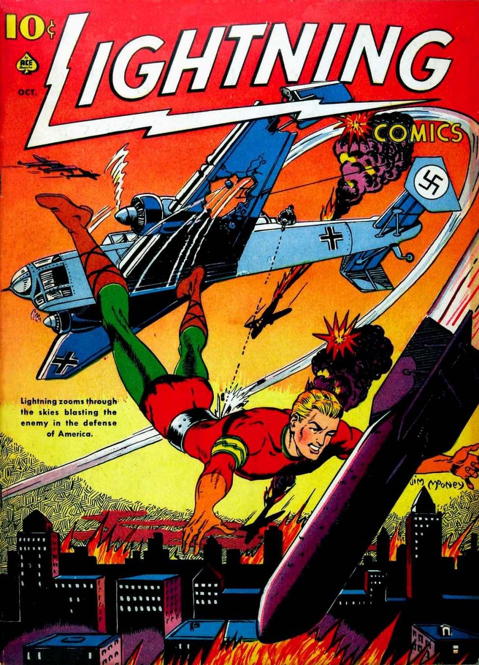 Comic Book Cover For Lightning Comics v2 #3