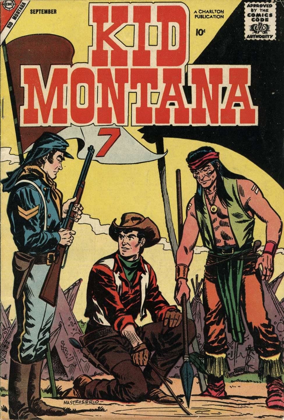 Comic Book Cover For Kid Montana #14
