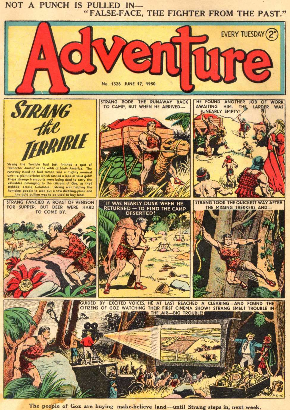 Comic Book Cover For Adventure #1326