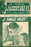 Cover For L'Agent IXE 13 v2 157 Le singe vert