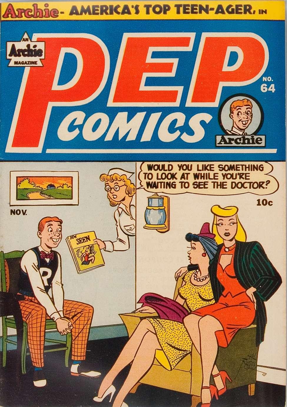 Comic Book Cover For Pep Comics #64