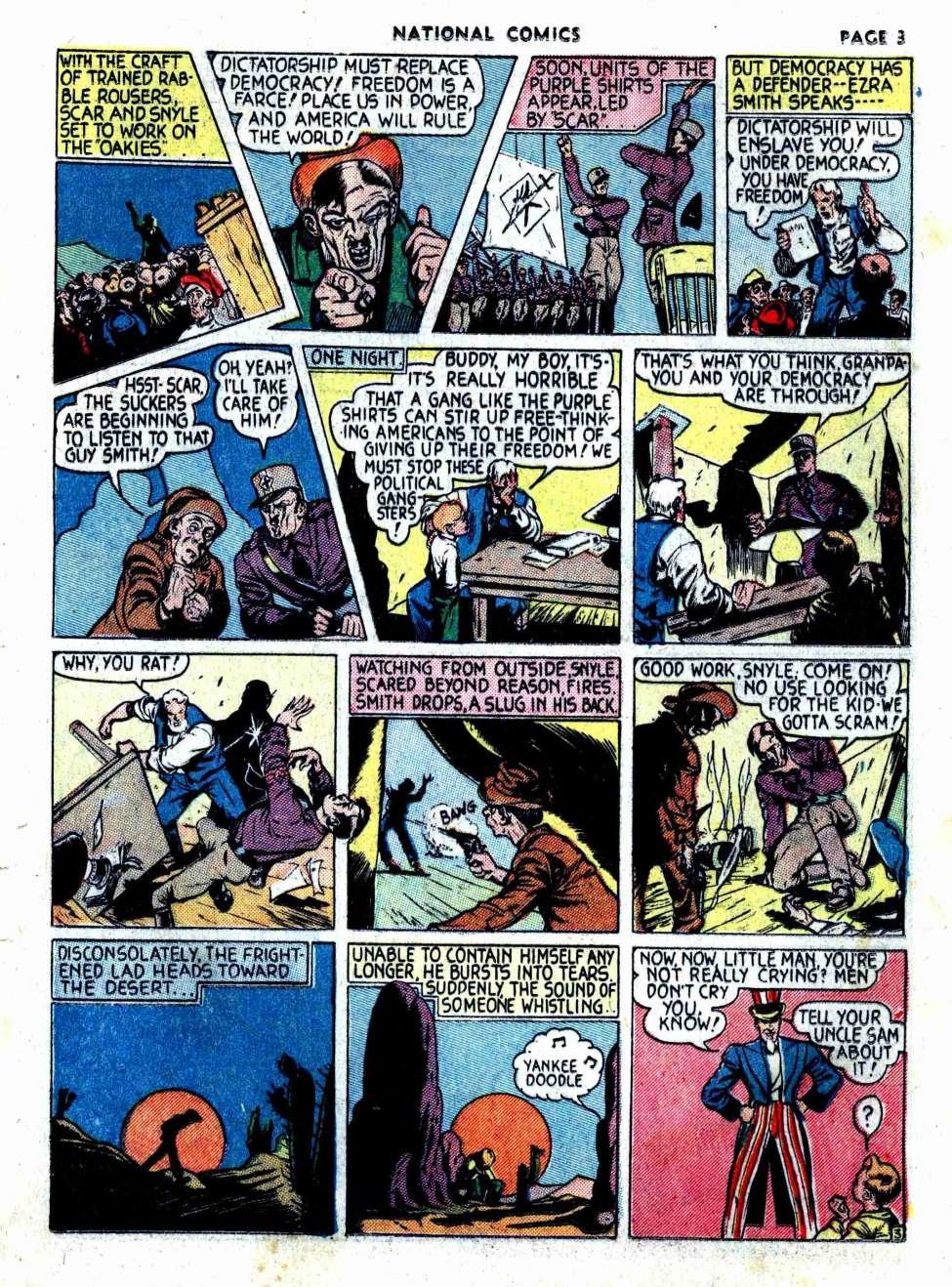 Golden Age Uncle Sam Appreciation Thread Buddy Gang Boy From National Comics 1