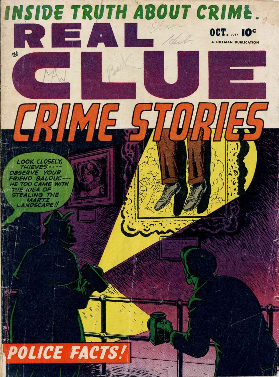 Comic Book Cover For Real Clue Crime Stories v6 8 [68]