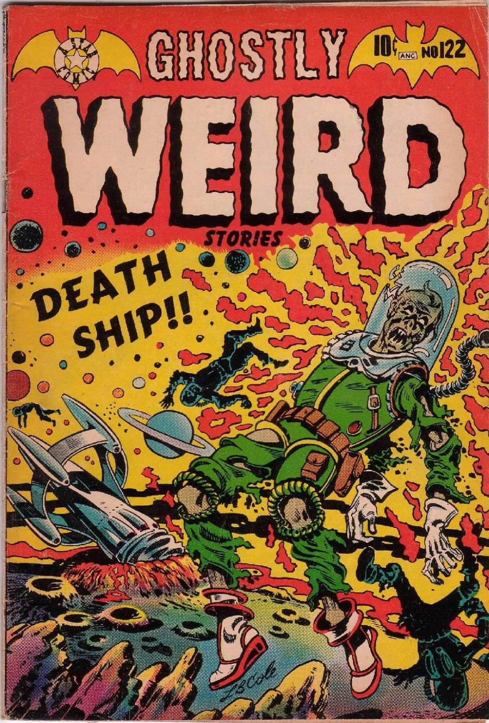 Comic Book Cover For Ghostly Weird Stories #122