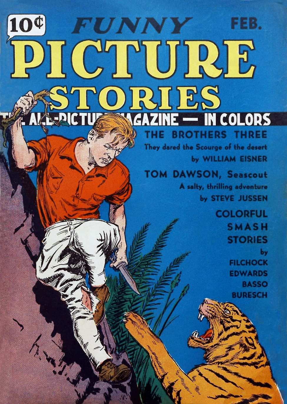 Comic Book Cover For Funny Picture Stories v1 #4